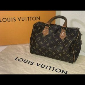 Authentic Louis Vuitton French company speedy 25